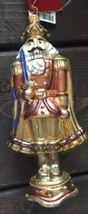 New Bombay Glass Blown Christmas Tree Ornament Nutcracker Gold Portugal - $42.42