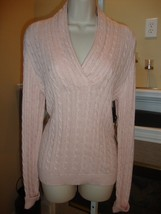 BEAUTIFUL, BRAND NEW SOFT PINK SWEATER BY RALPH LAUREN (NWT) - $125.00