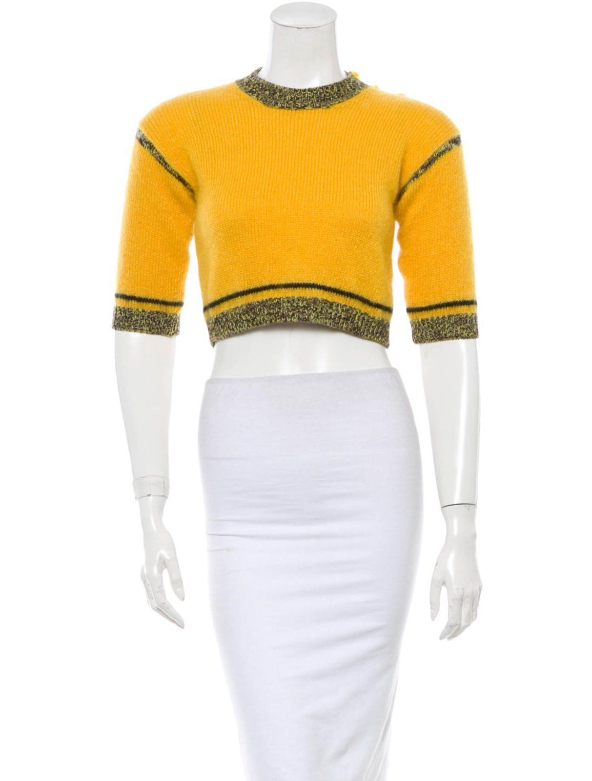 Primary image for BEAUTIFUL $1,295 JEAN PAUL GAULTIER CROP MOHAIR SWEATER