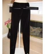 BRAND NEW SUPER RARE PRADA BLACK VELVET PANTS WITH ANKLE ZIPPERS (NWT) - $385.00