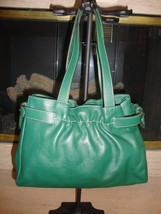BEAUTIFUL, NEW GREEN LEATHER HANDBAG BY FURLA (NWOT) - $139.00