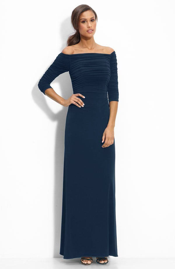 BEAUTIFUL NEW NAVY MAXI DRESS BY SHELLI SEGAL FOR LAUNDRY (NWT) - $112.50