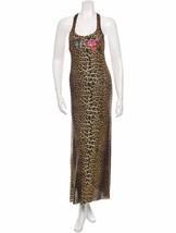 Beautiful New Racer Back J EAN Paul Gaultier Leopard Print Mesh Maxi Dress - $375.00