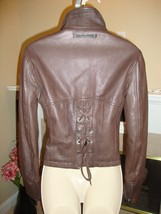 Crazy Cool, Super Stylish Leather Lace Up Jacket By J EAN Paul Gaultier - $436.50