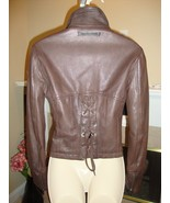 CRAZY COOL, SUPER STYLISH LEATHER LACE UP JACKET BY JEAN PAUL GAULTIER - $436.50