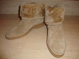 Gorgeous New $1,395 Sold Out Jimmy Choo Taupe Suede Fold Over Boots (Nwob) - $715.50