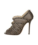 GORGEOUS NEW $1,095 JIMMY CHOO BLACK MESH CAGE & STUDDED BOOTIES (NWOB) - $492.75