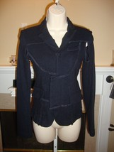 Crazy Cool New Comme Des Garcons For H&M Black Jacket With Exposed Seams - $236.55