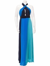 GORGEOUS NWT $1,995 ALICE + OLIVIA PLEATED HALTER MAXI DRESS IN SHADES O... - $897.75