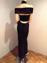 CRAZY SEXY NWT BLACK HALTER MAXI MESH DRESS BY JEAN PAUL GAULTIER - $877.50