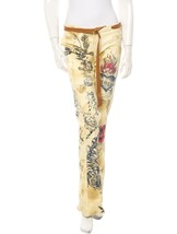 SPECTACULAR NEW $1,229 SOLD OUT ROBERTO CAVALLI JEANS WITH LEATHER DETAI... - $535.50