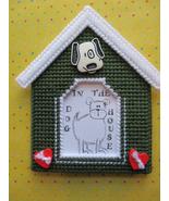 Whimsical Dog House Frame Plastic Canvas - $6.60
