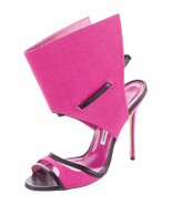 SPECTACULAR NEW $1,195 SOLD OUT RARE MANOLO BLAHNIK GLOVE ANKLE STRAP SA... - $537.75