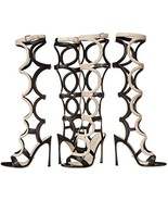 "SPECTACULAR SOLD OUT NEW $1,695 SERGIO ROSSI GLADIATOR ""ARABESQUE"" SANDALS - $1,075.50"