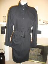 Spectacular, Super Rare, New $4K Black Thierry Mugler Wrap Dress - $1,435.50