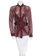 Spectacular, Sold Out, Brand New $1,020 J EAN Paul Gaultier Silk Top (Nwt) - $459.00