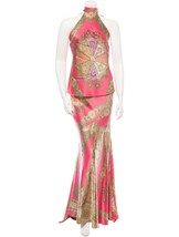 STUNNING NEW $5,120 ROBERTO CAVALLI SILK SKIRT & TOP SET (NWT) - $1,165.50