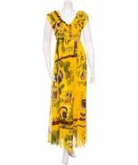GORGEOUS NEW $895 JEAN PAUL GAULTIER MESH FLORAL MAXI DRESS - $349.00