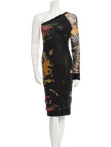 Gorgeous New J EAN Paul Gaultier One Shoulder Floral Mesh Dress - $445.50