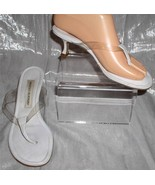 STYLISH MANOLO BLAHNIK WHITE AND CLEAR SANDALS - $115.00