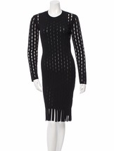 GORGEOUS NWT $1,495 SEXY SOLD OUT BLACK OPEN KNIT BODYCON ALEXANDER WANG... - $747.50