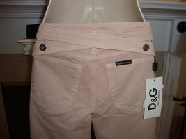 STYLISH & RARE $670 DOLCE & GABBANA PINK JEANS WITH CRISS CROSS IN BACK ... - $349.00
