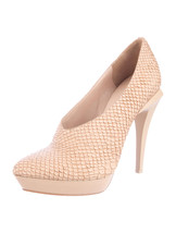 GORGEOUS, SOLD OUT NWB BEIGE EMBOSSED LEATHER PUMPS BY ALEXANDER WANG - $475.00