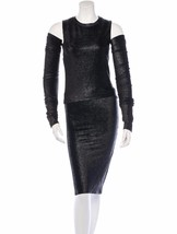 Sexy J EAN Paul Gaultier Faux Leather Pebbled Skirt, Top & Detached Gloves Set - $562.50