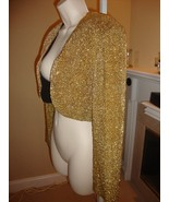 SPECTACULAR $10K ONE-OF-A-KIND ANNE KLEIN COUTURE GOLD SHRUG / BOLERO JA... - $2,695.50