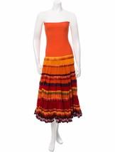Spectacular New $4,300 Orange Strapless Dress From J EAN Paul Gaultier Femme - $1,345.50