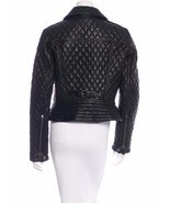SPECTACULAR NWT SOLD OUT BURBERRY BLACK QUILTED MOTO LEATHER JACKET - $2,695.50