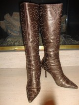 Stunning Bronze Knee High Jimmy Choo Boots With Grommets - $495.00