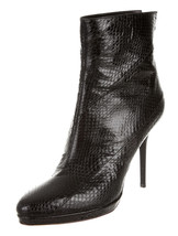 Stunning New $1,495 Jimmy Choo Sold Out Black Snakeskin Ankle Boots - $672.75