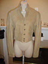 STUNNING NEW $1,998K SUEDE LEATHER RALPH LAUREN BLACK LABEL CROP JACKET ... - $715.50