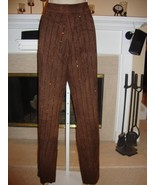 STUNNING NEW $2,880 DOLCE & GABBANA BROWN SUEDE PANTS WITH CRYSTALS - $895.50