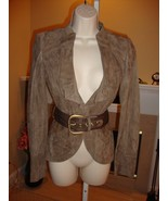 STUNNING NEW $2,700 GUCCI SUEDE BELTED JACKET - $625.50