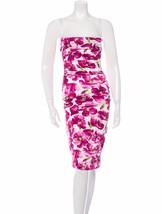 STUNNING NEW $3,495 DOLCE & GABBANA FLORAL SILK BUSTIER DRESS - $1,345.50