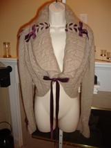Stunning New $3,790 Taupe Cashmere Shrug Sweater By Oscar De La Renta (Nwt) - $1,611.00
