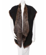 STUNNING, NEW $3,900 SOLD OUT DOUBLE-SIDED DONNA KARAN OPEN SHEARLING FU... - $1,755.00