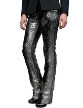 STUNNING NWT SOLD OUT $3,225 BALMAIN DISTRESSED JEANS WITH SEQUINS  - $1,498.00