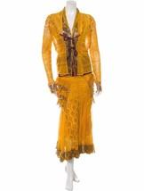 Stunning,Rare, Nwt $1,190 J EAN Paul Gaultier Mesh Skirt & JACKET/TOP Set - $535.50