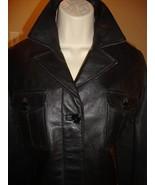 STYLISH BLACK CROP LEATHER JACKET BY PRADA - $404.10