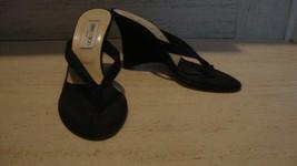 STYLISH JIMMY CHOO BLACK TERRY CLOTH WEDGE SANDALS - $149.00