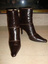 Stylish Jimmy Choo Dark Brown Leather Ankle Boots - $165.00