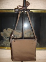 STYLISH NEW BROWN FABRIC SHOULDER BAG BY NINE WEST (NWT) - $37.00