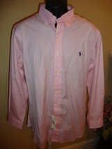 """Stylish New """"Custom Fit"""" Button Down Polo Ralph Lauren Shirt In Pink (Nwt) - $58.90"""