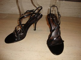 STYLISH NEW NINE WEST BLACK HEELS IN BLACK LEATHER (SIZE 7) - $79.00