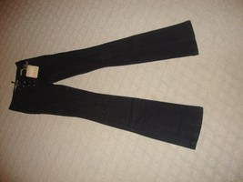 STYLISH, NEW PLUS BRAND SHADOW WASH/BLACK JEANS IN SIZE 25 WITH LACE UP ... - $66.45