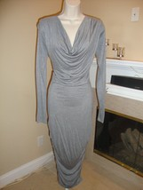 "Stylish, Sexy & Super Flattering $435 Gray ""Leaden"" Dress By Stylein (Nwt) - $135.00"