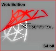 Microsoft SQL Server 2016 Web 64bit Lifetime FU... - $97.99